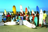 The vibrant surfers of the coast