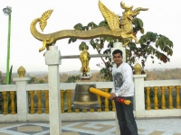 Dragon Bell at Golden Temple in Banderban