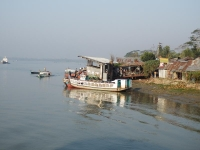 Small ferry ghat in the souther waters