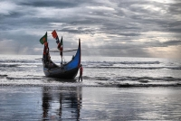 A traditional fishing boat in Cox's Bazar