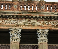 front facade of the Baliati palace