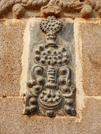 Ornamented panel at Kusumba mosque in Naogaon